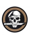 "Нашивка Rothco PVC ""Military Skull & Knife"" Morale Patch"